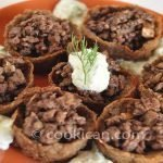 Kibbeh cups with Tsaziki Sauce