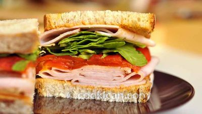 Turkey Sandwich with Roasted Red Bell Peppers