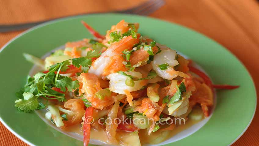 Papaya Shrimp Salad